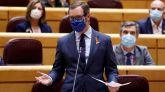 El senador del PP, Javier Maroto, este martes en el Senado.