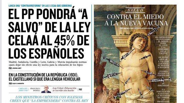 Las portadas de este domingo, 22 de noviembre