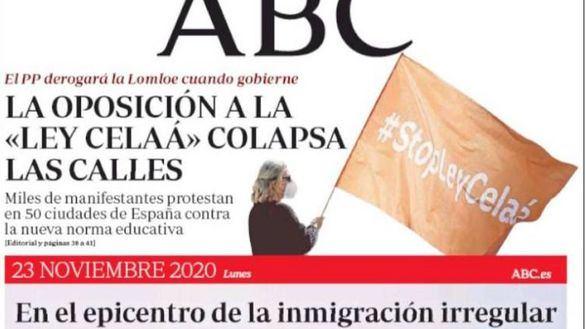 Las portadas de los periódicos de este lunes