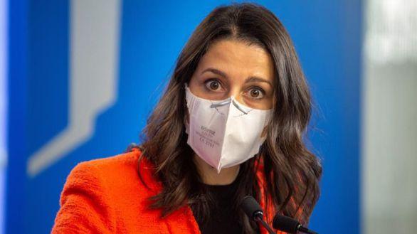 La presidenta de Ciudadanos, Inés Arrimadas, este lunes.