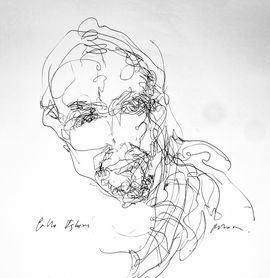 Caricatura de Pablo Iglesias por Víctor Ochoa