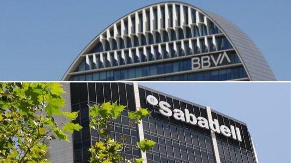 La Bolsa premia al BBVA y castiga al Sabadell tras fallar su fusión