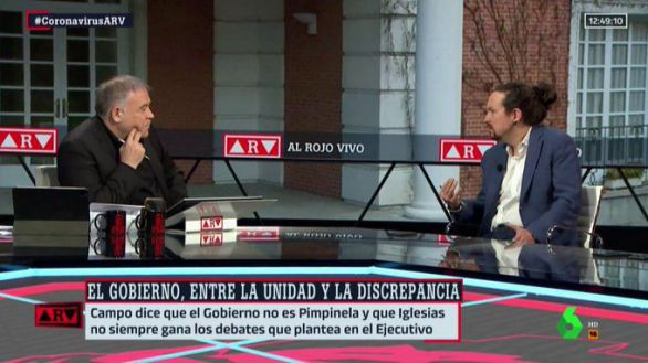 Tensa entrevista de Ferreras e Iglesias a cuenta del franquismo, Bildu, PP y Vox
