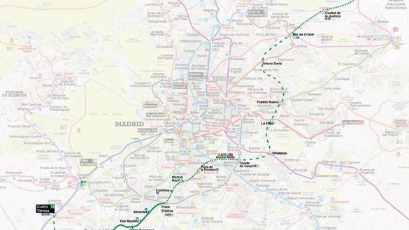 La línea 11 de Metro será una diagonal que unirá Cuatro Vientos y Valdebebas