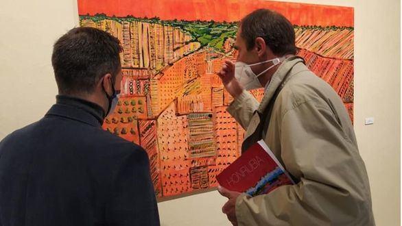 El pintor Eduardo Honrubia expone en Albacete una obra llena de fuerza
