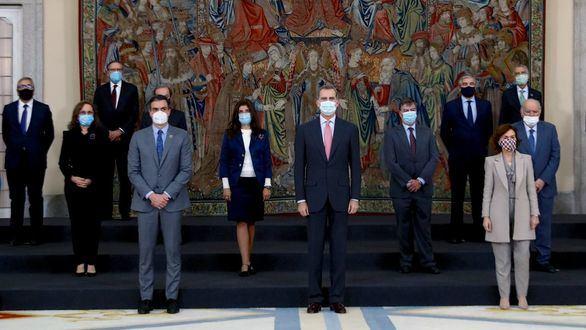 El Rey retoma su agenda tras la cuarentena en un acto con Sánchez y siete ministros
