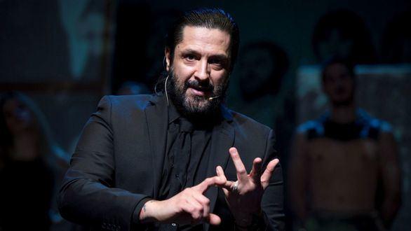 El bailarín Rafael Amargo ofrece una rueda de prensa para presentar el espectáculo 'Yerma' en el Teatro de La Latina, en Madrid, tras ser detenidos por vese implicado en una operación antidroga.