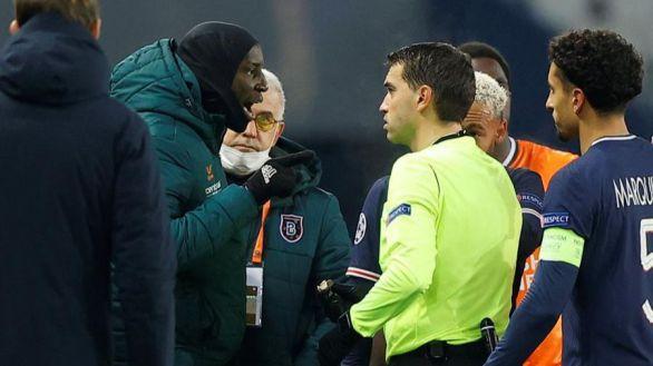 Estambul y PSG se retiran del partido tras un comentario racista del cuarto árbitro