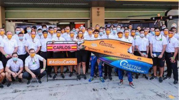 Fórmula Uno. El entrañable mensaje de despedida de McLaren a Carlos Sainz