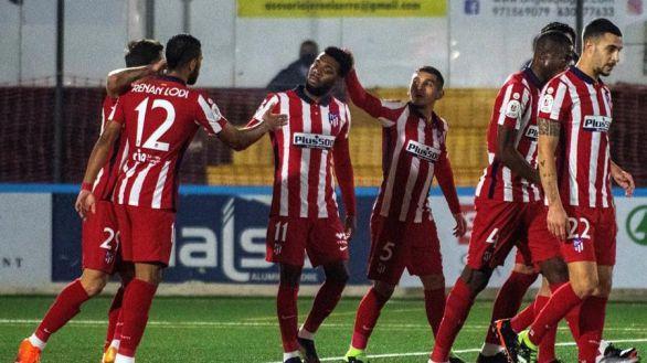 Copa del Rey. El Atlético debuta sin apuros ante el Cardassar
