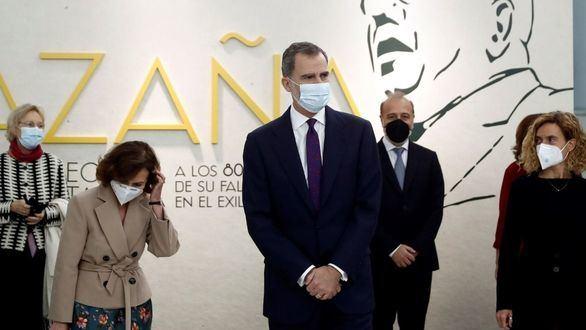 El Rey Felipe VI asiste a la inauguración de la muestra en recuerdo de Manuel Azaña