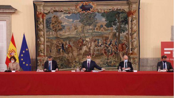 Felipe VI preside la reunión anual del patronato de la Fundación pro-RAE