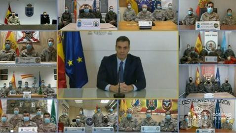 Sánchez, a los militares en el exterior: