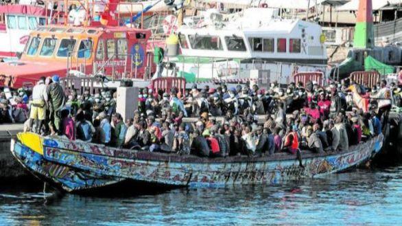 La inmigración ilegal se dispara un 757% en Canarias