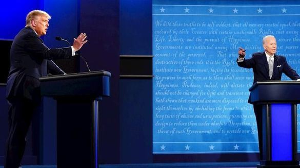 Donald Trump, durante el debate electoral.