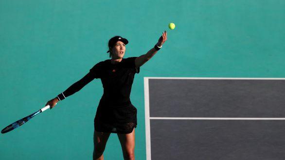 WTA. Garbiñe Muguruza empieza el curso con solidez en Abu Dabi