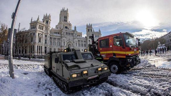 Consulte el mapa de las calles abiertas y cerradas tras la nevada de Madrid