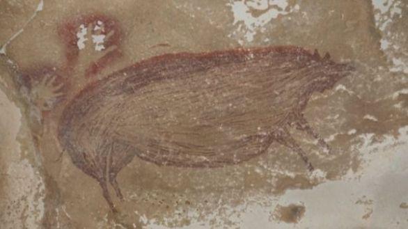 Un cerdo verrugoso de 45.500 años, la pintura rupestre figurativa más antigua