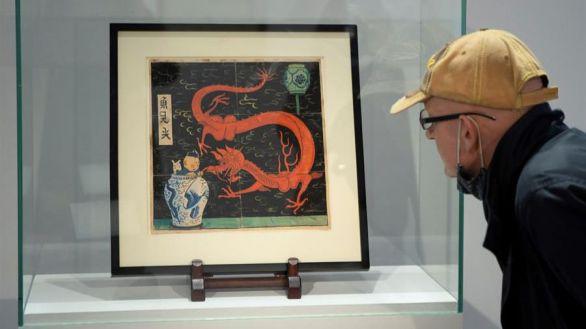 Precio récord para la portada original de El Loto Azul, de Tintín: 3,17 millones de euros