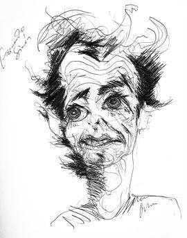 Caricatura de Víctor Ochoa.