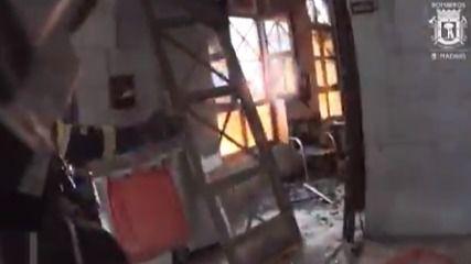 Así ha quedado el interior del edificio de la calle Toledo tras la explosión