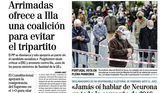 Las portadas de los periódicos de este lunes 25 de enero