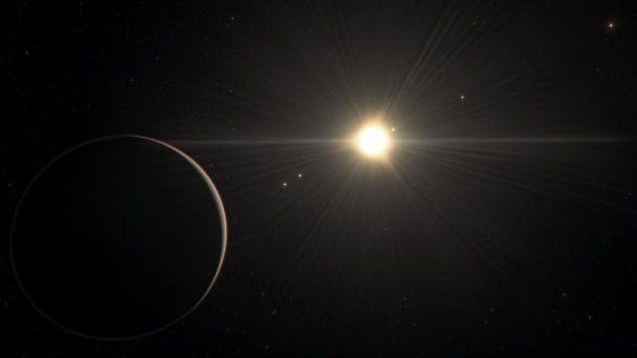 Recreación artística del sistema planetario TOI-178.