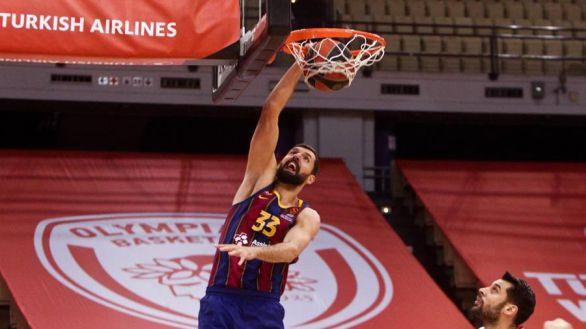 Euroliga. El Barcelona logra un triunfo agónico ante el Olympiacos |74-76