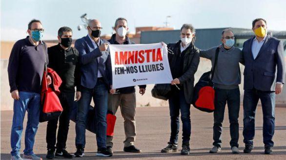 Los presos del procés salen de Lledoners el primer día de la campaña electoral