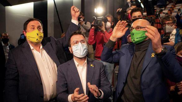 Los presos del 1-O, en la calle para agitar la campaña electoral
