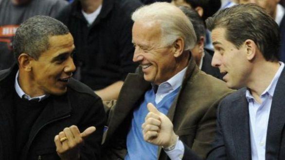 Imagen de archivo de Obama, Biden y su hijo, Hunter Biden