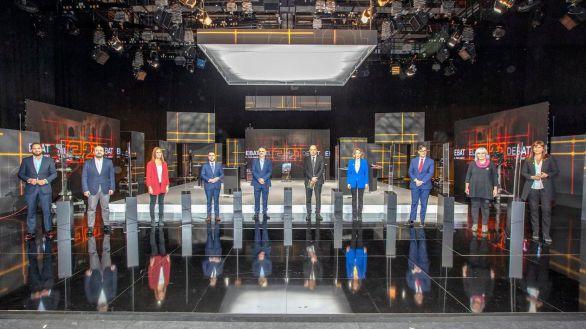 Los candidatos catalanes se olvidan del Covid y atacan a Vox