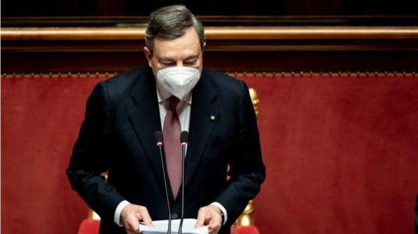 Draghi presenta su programa de gobierno y pide unidad y compromiso