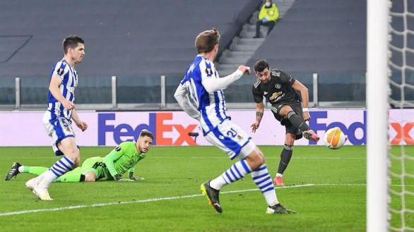 Liga Europa. Varapalo de la Real ante el United de Fernandes y Rashford |0-4