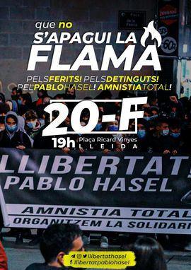 Convocatoria de manifestación para este sábado en Lleida: Que no se apague la llama.