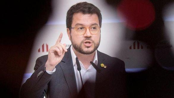 El presidente de la Generalidad, Pere Aragonés (ERC)