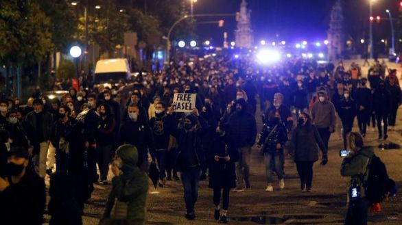 El séptimo día de protestas concluye sin apenas incidentes