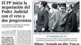 Las portadas de los periódicos de este martes, 23 de febrero
