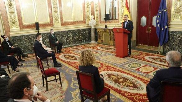 Discurso pronunciado en el salón de los Pasos Perdidos del Congreso de los Diputados por el Rey.