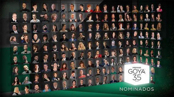 Los Premios Goya adaptan a los tiempos su tradicional foto de familia de nominados