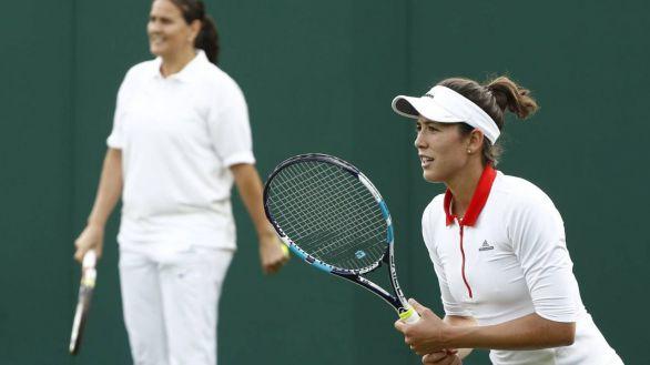 WTA. Conchita Martínez no deja de entrenar a Muguruza ni por el coronavirus