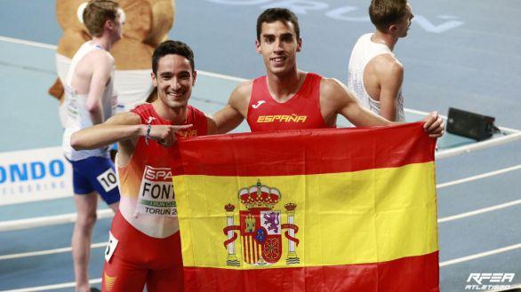 Europeos bajo cubierta. Jesús Gómez e Ignacio FonItes, plata y bronce en el 1.500