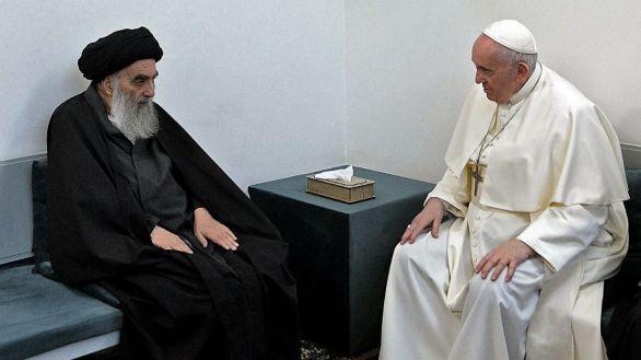 Histórico encuentro del Papa y el ayatolá Al Sistani: