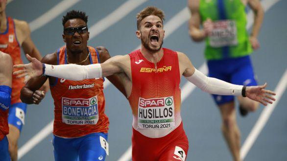 Europeos bajo cubierta. Husillos cumple y es campeón de 400 metros