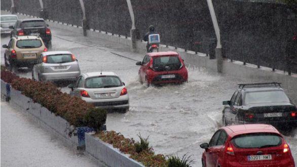 Apagón en Ceuta como consecuencia de las fuertes lluvias e inundaciones