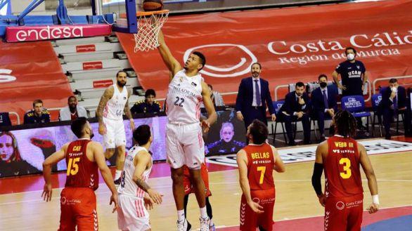 ACB. El Real Madrid refuerza su liderato en Murcia