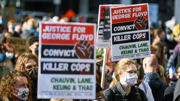 Manifestaciones por el juicio de la muerte de George Floyd.