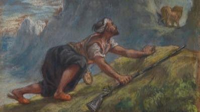 Christie's saca a subasta un pastel orientalista de Delacroix que perteneció a Degas