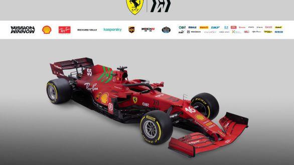 Ferrari presenta el SF21, el nuevo monoplaza del español Carlos Sainz