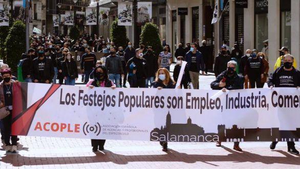 Trabajadores del espectáculo protestan por la situación de